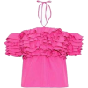 hot pink ruffle haltered top - Tunike -