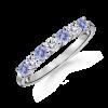 Round Tanzanite and Diamond Seven Stone Ring - Rings - $609.99