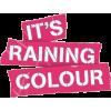 it's raining colour editorial - 插图用文字 -