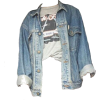 jean jacket and tee - Shirts -