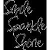 Smile Sparkle Shine - Textos -
