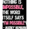 audrey hepburn - Textos -