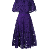 lace-embroidered flared dress - Dresses -