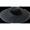 large black straw hat - Cascos -