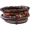 leather and beads bracelet - Bransoletka -
