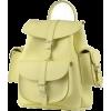 light yellow backpack - Backpacks -
