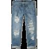 low rise distressed boyfriend jeans - Jeans -
