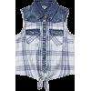 madras and denim sleeveless shirt - Camicie (corte) -