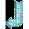 maison Du Monde surf this way wall art - Items -