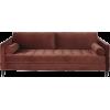 maison du monde burgundy red sofa - インテリア -