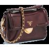 burgundy prada bag - Torby -