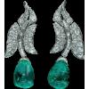 emeralds and diamonds art deco - Necklaces -