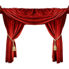 red curtains - Items -