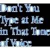 don't you - Textos -