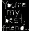 friend - 插图用文字 -