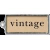 Vintage - Texts -