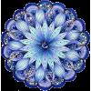 mandala blue flower - Items -