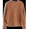 mango jumper in brown - Pullovers -