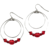red - Earrings -