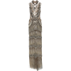 marchesa silver jeweled necklace gown - Dresses -