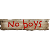 No Boys Sign - Texts -