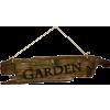Garden Sign - Texts -