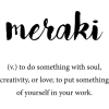 meraki definition - Teksty -