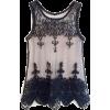 mesh black lace top - Tanks -