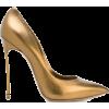 metallic gold heels - Scarpe classiche -
