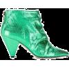 metallic green boots - Boots -