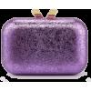 metallic purple clutch - Clutch bags -