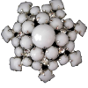 #milkglass #rhinestone #brooch #vintage - Other jewelry - $19.00