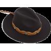 missguided black western fedora hat - Hat - £18.00  ~ $23.68