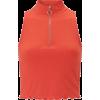 missselfridge Red Zip Funnel Neck Sleeve - T-shirts - £11.20  ~ $14.74