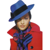 model in red and blue - People -