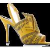 moschino-yellow-measuring-tape- shoes - Sandalias -