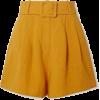 mustard shorts - Брюки - короткие -