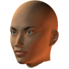 female face semiprofile - Figure -