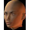 female face semiprofile - マネキン -