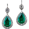 Naušnice Earrings Green - Earrings -