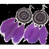 Earrings Purple - Naušnice -