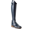 navy blue leather riding boot - Stivali -