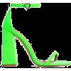 neon green heels - Sandals -