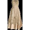 neutral satin embellished dress - Kleider -