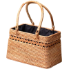 neutral straw bag - Hand bag -