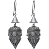 Naušnice Earrings Silver - Kolczyki -
