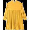 oh L Pleats Point Mini Heart Dress - Vestidos -