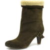 olive Ankle Boot - Boots -