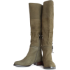 olive green high boots - Botas -