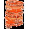 orange bracelets - Bracelets -